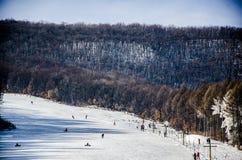Ski Field, montanhas de Changbai de China Fotografia de Stock