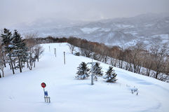 Ski field on Mt Moiwa Hokkaido Japan Stock Photography