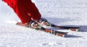 Ski finish in downhill Stock Photography