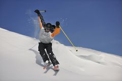Ski freeride Royalty Free Stock Image