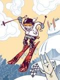 The ski freeride Stock Photo