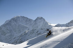 Ski freeride and powder turn Stock Image