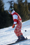 Ski girl in red Stock Image