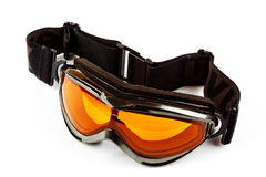 Ski glasses. Isolated on a white background Stock Photos