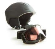 Ski glasses and helmet. Stock Images