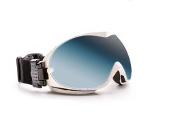 Ski glasses isolated on white Royalty Free Stock Photo