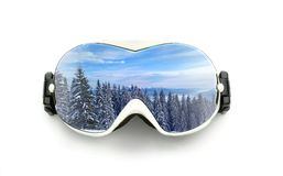 Ski glasses isolated on white Royalty Free Stock Image