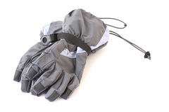 Ski gloves. Female ski gloves isolated on a white background Stock Photos