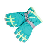 Ski gloves isolated on white background Royalty Free Stock Images
