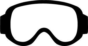 Ski Goggle Simple. Vector sports Royalty Free Stock Photography