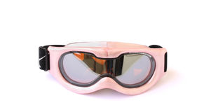 Ski goggles. Child's ski goggles isolated on a white background Stock Image