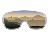 Ski goggles. Vector ski goggles isolated on white background Royalty Free Stock Photo