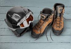 Ski Goggles en Helm stock afbeelding