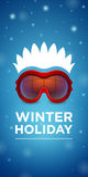 Ski goggles and hairstyle Winter holiday Royalty Free Stock Images