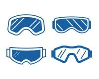 Ski Goggles Icon Set Photo stock