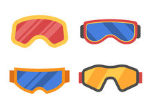 Ski Goggles Icon Set Photographie stock