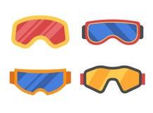 Ski Goggles Icon Set royalty free illustration