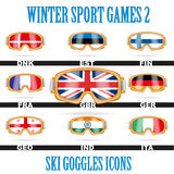 Ski goggles icons Royalty Free Stock Photography