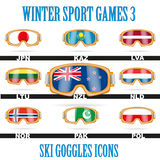 Ski goggles icons Royalty Free Stock Photos