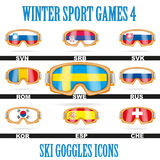 Ski goggles icons Stock Photography