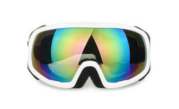 Ski goggles isolated on white Royalty Free Stock Images