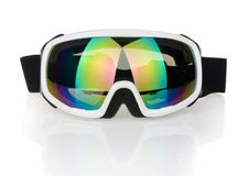 Ski goggles isolated on the white background Royalty Free Stock Images