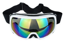 Ski goggles isolated on the white background Royalty Free Stock Photo