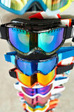 Ski goggles mask on stand in shop Royalty Free Stock Image