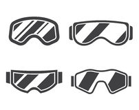 Ski Goggles Outline Icon Set Photographie stock libre de droits