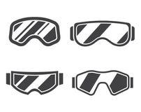 Ski Goggles Outline Icon Set Illustration Libre de Droits