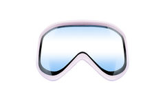 Ski goggles with reflection Stock Photos