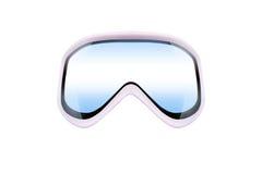 Ski goggles with reflection stock photos