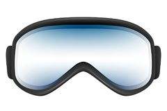 Ski goggles with reflection solated on the white. Ski goggles with reflection isolated on the white background. Realistic 3D illustration Stock Images