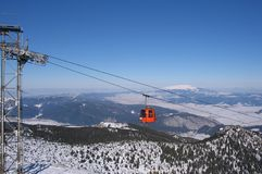 Ski Gondola Royalty Free Stock Photo