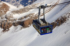 Ski Gondola Climbs the Mountain Stock Photos