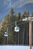 Ski gondola in Italian Dolomites Stock Photos