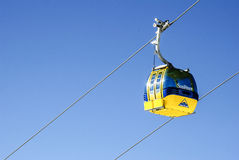 Ski gondola. Ski lift gondola in Alps Royalty Free Stock Photo