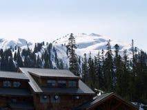 Ski-Hütte Stockfotos