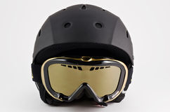 Ski helmet. On white background Stock Photo