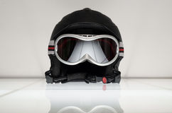 Ski helmet with glasses Royalty Free Stock Photo