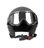 Ski helmet with goggles Royalty Free Stock Photography