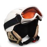 Ski helmet on white background Stock Photography