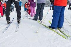 Ski in het hele land Stock Afbeeldingen