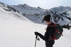 Ski het reizen gids Stock Fotografie