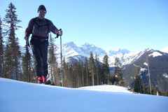 Ski hiking Royalty Free Stock Images