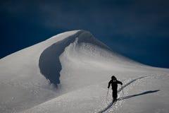 Ski hiking in swiss alps Stock Photos