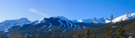 Ski Hill Mountain Panorama Royalty Free Stock Photography