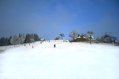 Ski hill in Zakopane, Poland Royalty Free Stock Photos