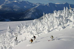 Ski hoch Stockfotos