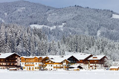 Ski Hotel Alps Stock Photo